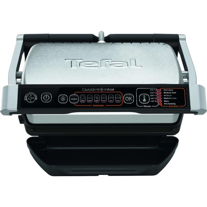 Електрическа скара Tefal OptiGrill + GC706D34, 2000 W, 6 автоматични програми, Функция размразяване, Инокс/Черна