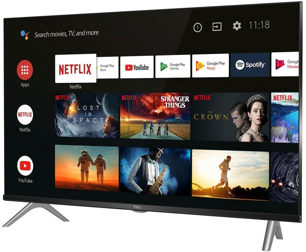 Смарт телевизор TCL 32S615, 32″, HD LED, 1366 X 768, черен