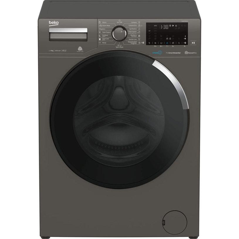 Пералня BEKO WUE 8736 XCM /GREY 8.0 kg, 1400 об/min, ИНВЕРТОРЕН МОТОР