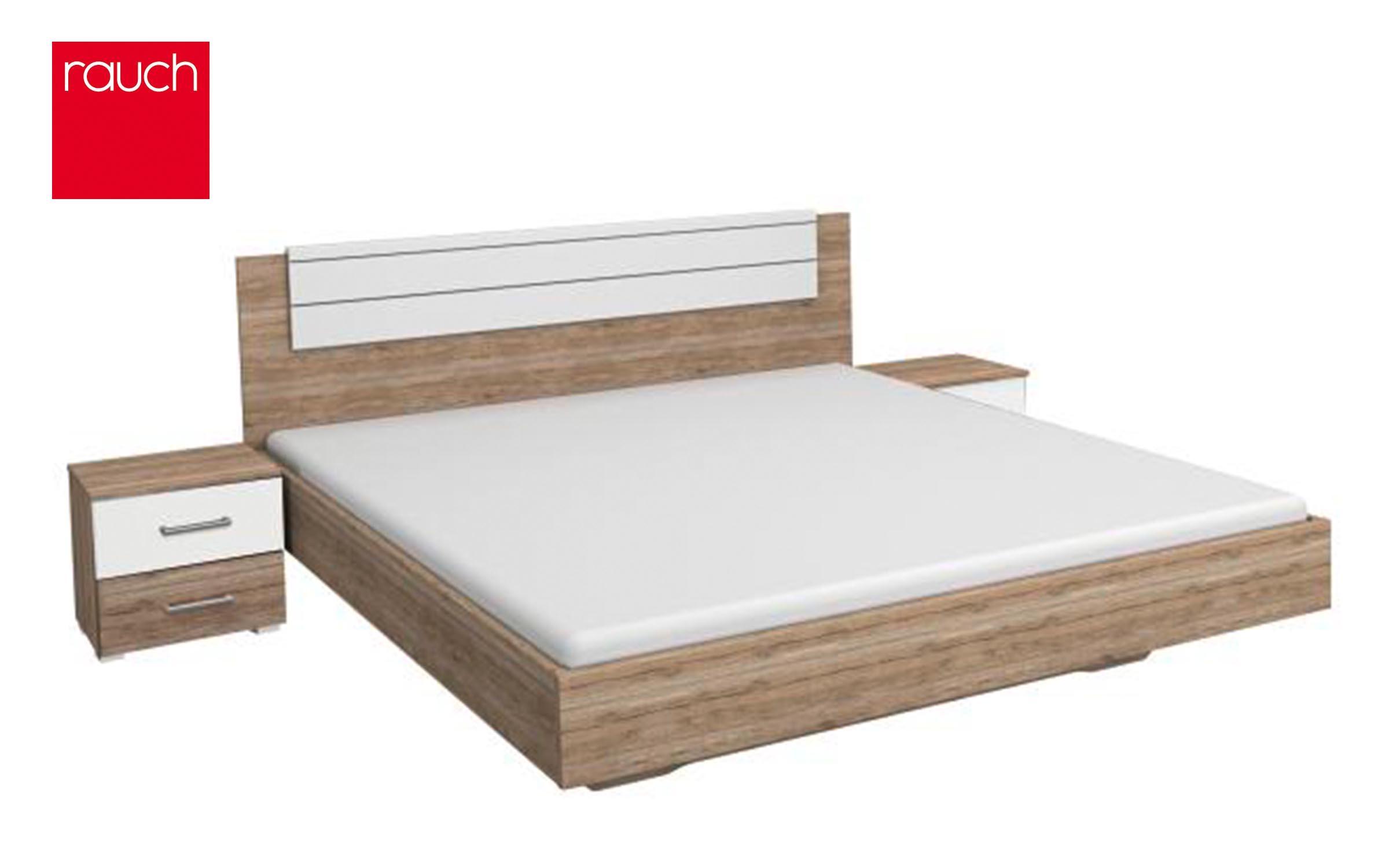 Спалня Мариция за матрак 160/200 , дъб Сан Ремо + алпийско бяло
