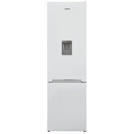 Хладилник с фризер Heinner HC-V286WDF+, 286 л, Клас F, Диспенсър за вода, Less Frost, H 180 см, Бял