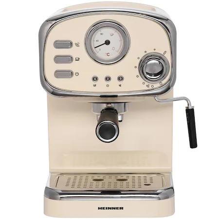 Кафемашина Heinner HEM-1100CR, 15 bar, 1100 W, Ръчна капучино система