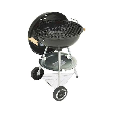 Барбекю Grillchef Kettle на въглища, 56 x 48 x 85 см, Хромирана повърхност за готвене 44 см, Пепел колектор, Крака от неръждаема стомана