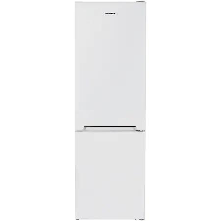 Хладилник с фризер Heinner HC-V336F+, 336l(230 + 106), Клас F, Tehnologie less frost, LED осветление, Механичен контрол, Регулируем термостат, H 186 см , Бял