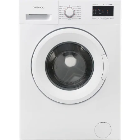 Пералня Daewoo DWD-FV2021, 7 кг, 1000 об/мин, Дисплей, A+++, Бяла