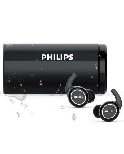 Безжични слушалки Philips ActionFit TAST702BK, черни