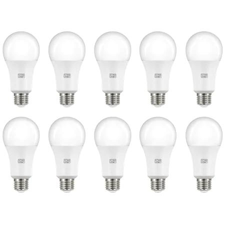 Комплект 10 крушки LED Star-Light, 15 W (100 W), 1350 лумена, A++, E27, Топла светлина, 3000K