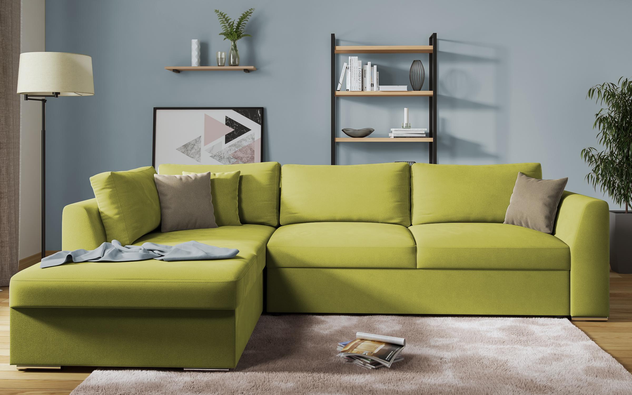 Разтегателен диван Тоскана , зелен + светло кафяво