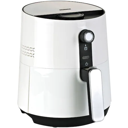 Фритюрник Heinner HAF-1300WH с горещ въздух, 1300 W, 2.6 л, Таймер, Бял