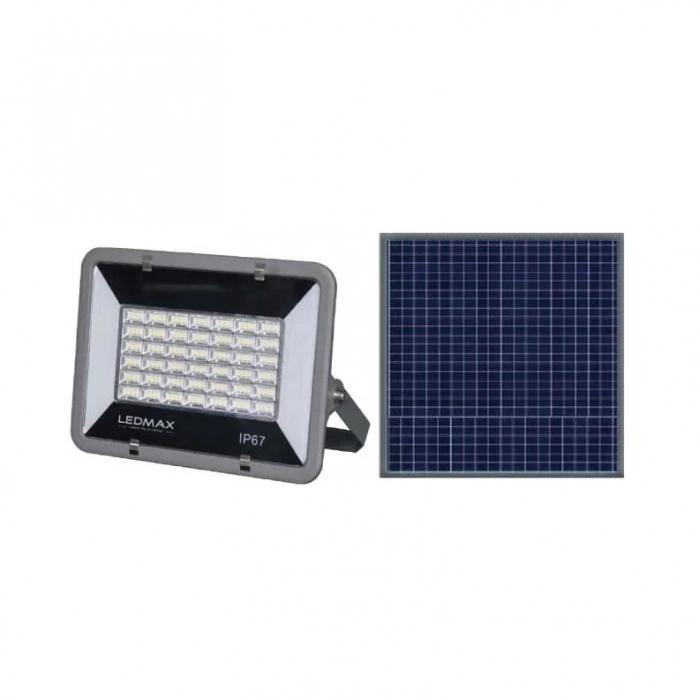 LED соларен прожектор LEDMax AMHPS-9012 / 120W 6500K