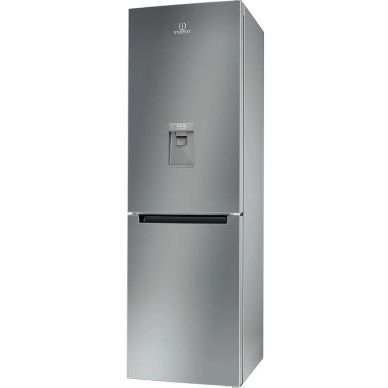 Хладилник с фризер Indesit LI8 S1E S AQUA , 334 l, F , Сив , Статична