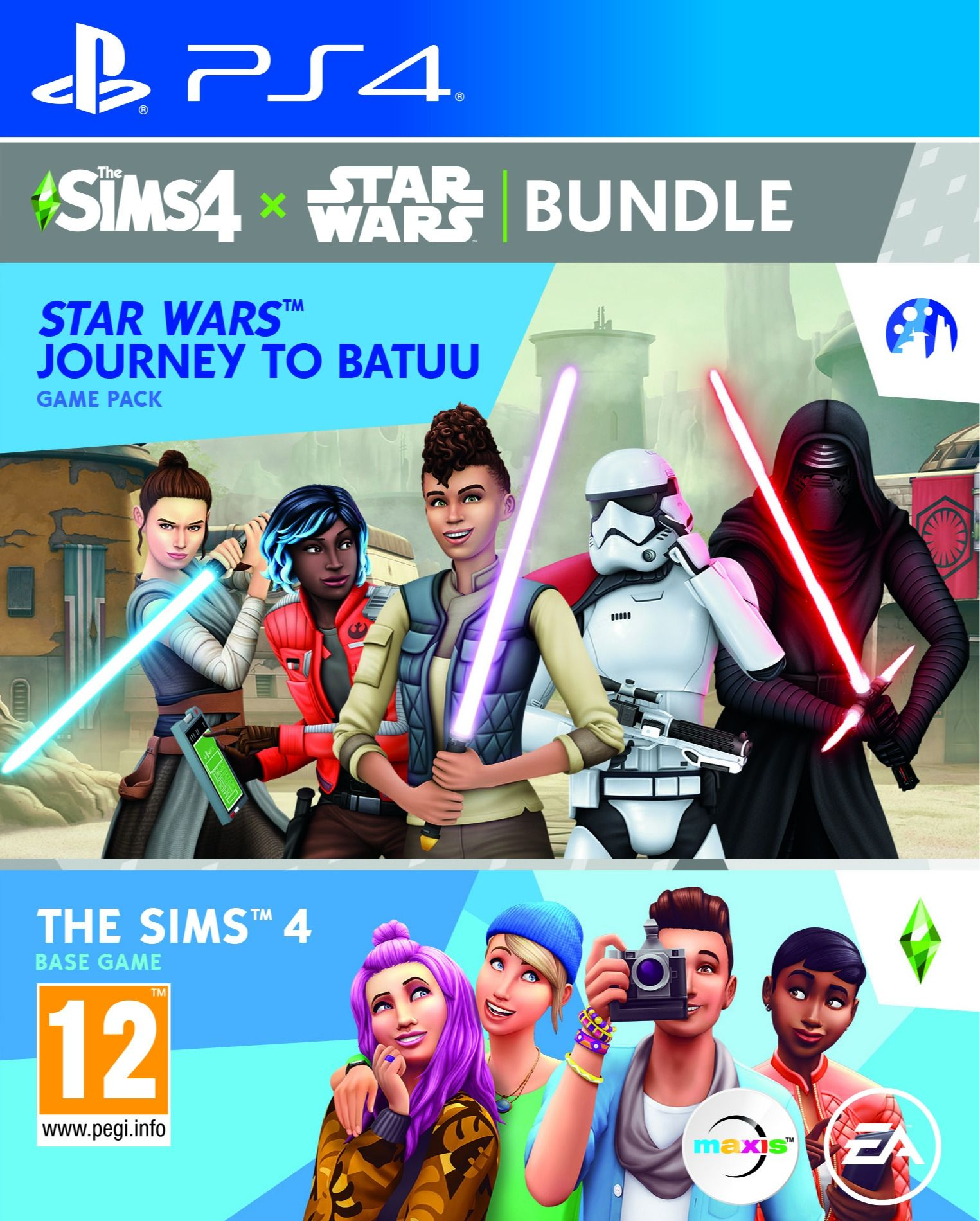 The Sims 4 + Star Wars – Journey to Batuu Expansion Pack Bundle (PS4)
