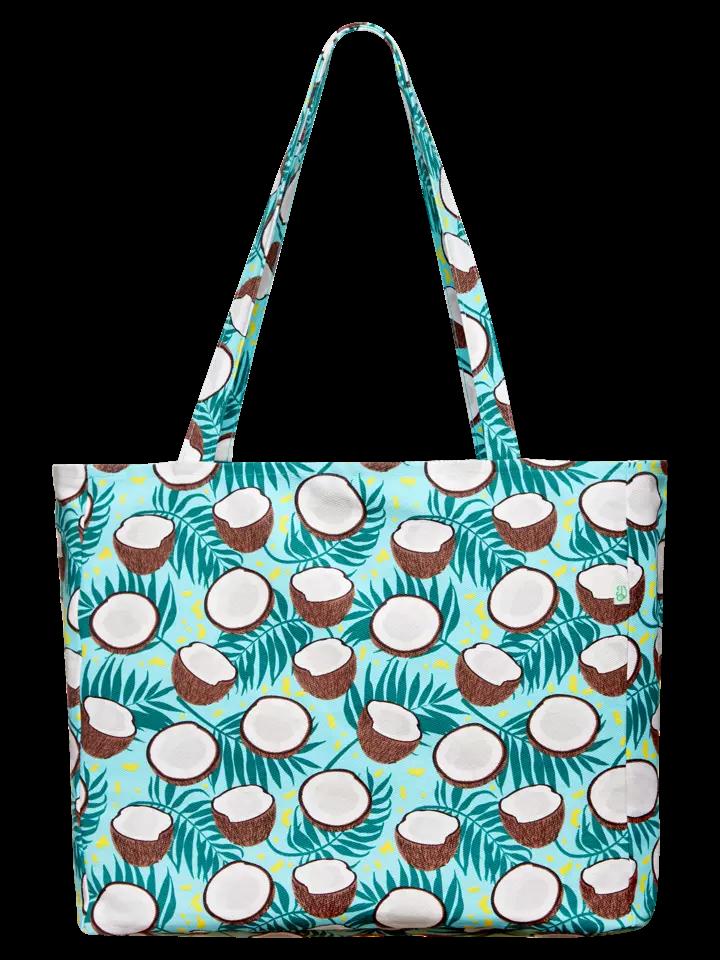 Весела плажна чанта Кокосов орех