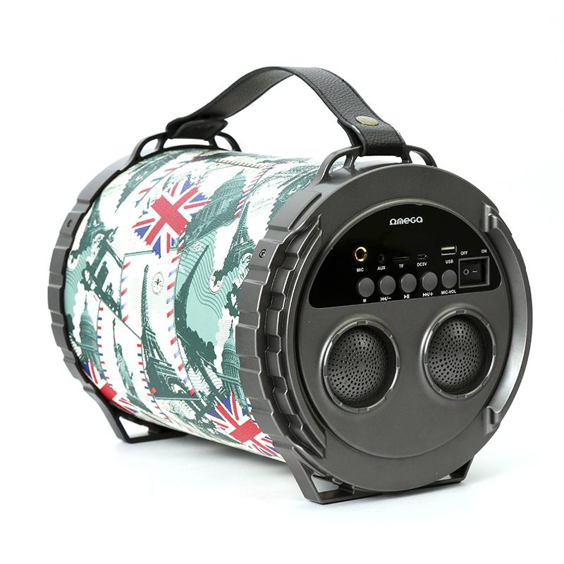Безжичен спийкър Omega Speaker OG73 Bazooka 20W с функция за караоке за мобилни устройства (шарен)