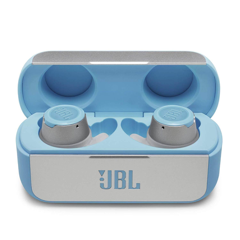 Безжични Bluetooth слушалки JBL Reflect Flow с микрофон за мобилни устройства (светлосин)