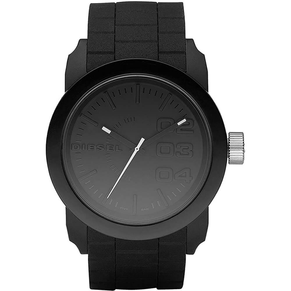 Стилен аналогов часовник Diesel DZ1437 Watch със силиконова каишка (черен)