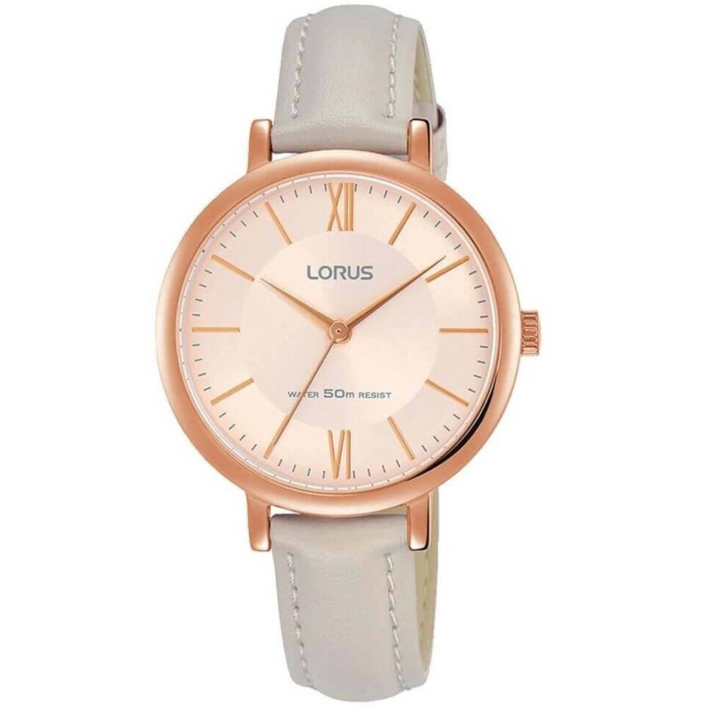 Стилен дамски часовник Lorus RG264MX9 (розово злато)
