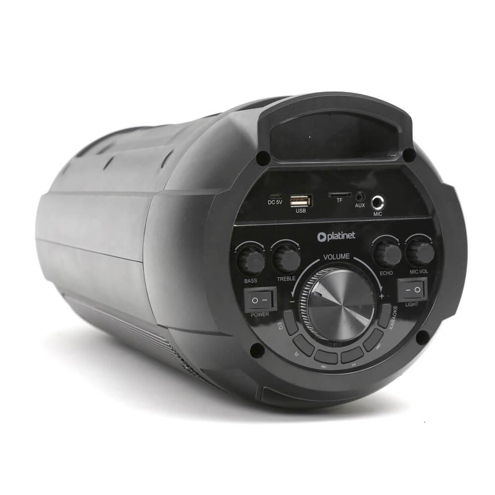 Безжичен блутут спийкър Platinet Speaker PMG240 20W BT5.0 с микрофон, FM радио, AUX вход и USB порт (черен)