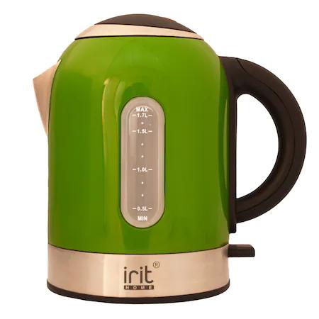 Eл.кана Irit IR-1323, 1.7 л, Зелен/Инокс