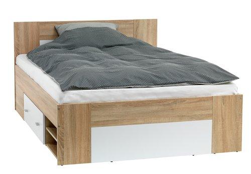 Рамка за легло FAVRBO 160×200 дъб/бяло