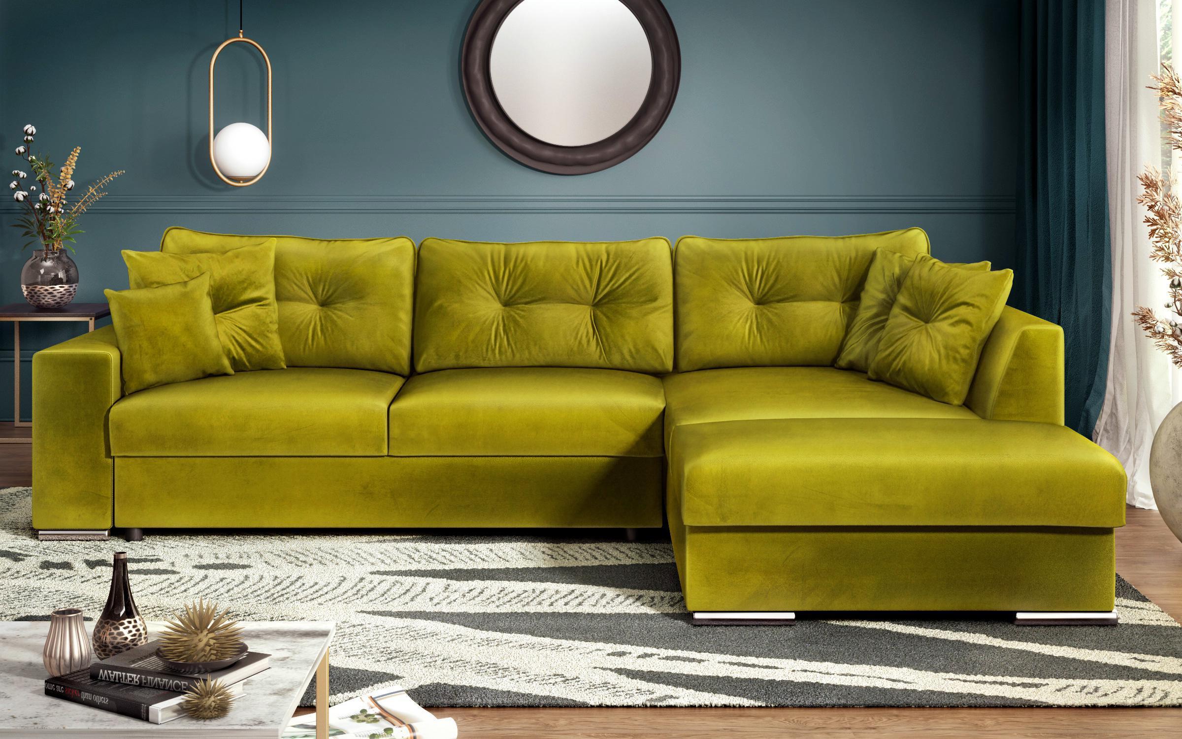 Разтегателен диван Рим , зелен