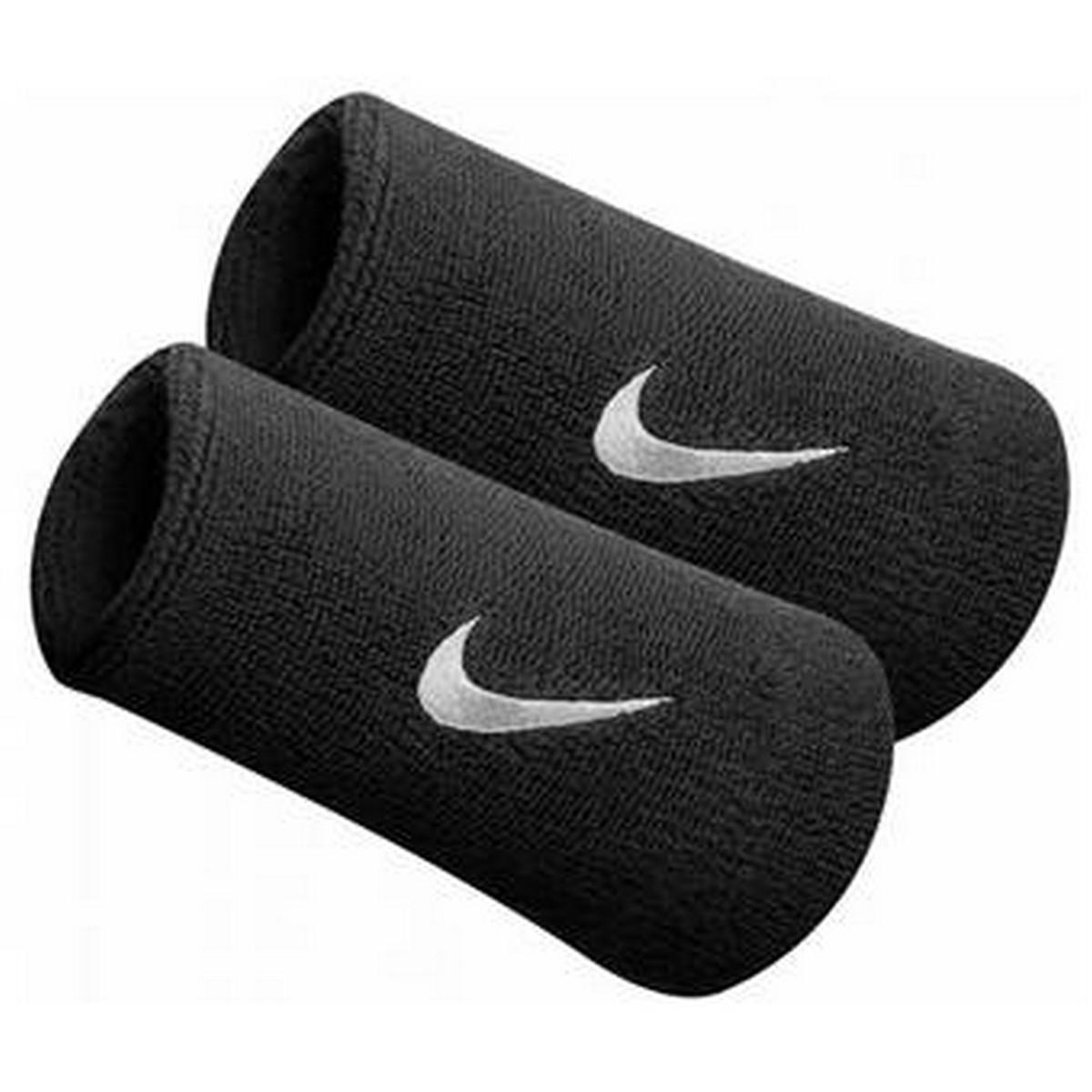 Nike JR НАКИТНИЦИ NIKE SWOOSH DOUBLEWIDE WRISTBANDS BLACK/