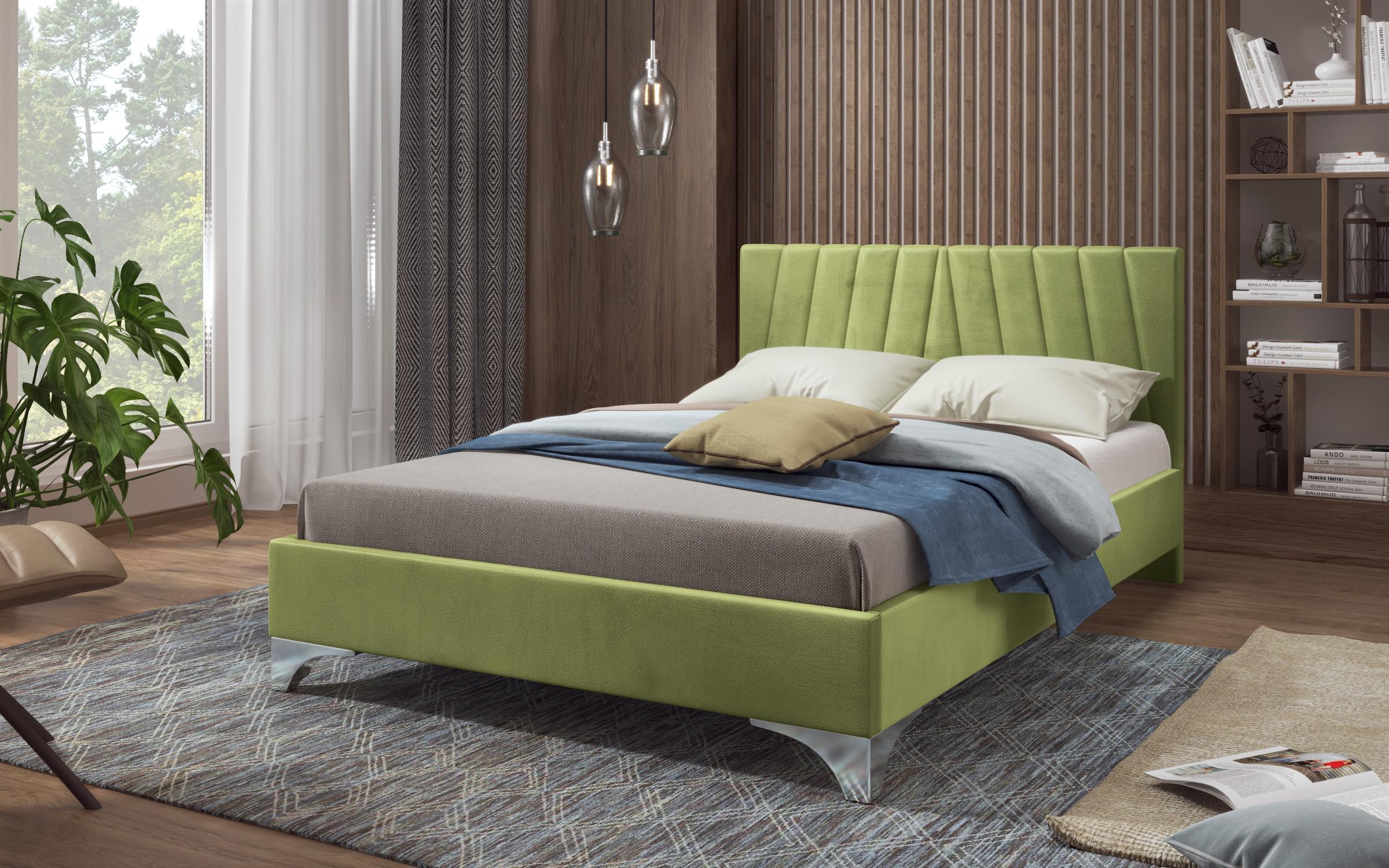 Спалня Мартела за матрак 140/200 , зелен
