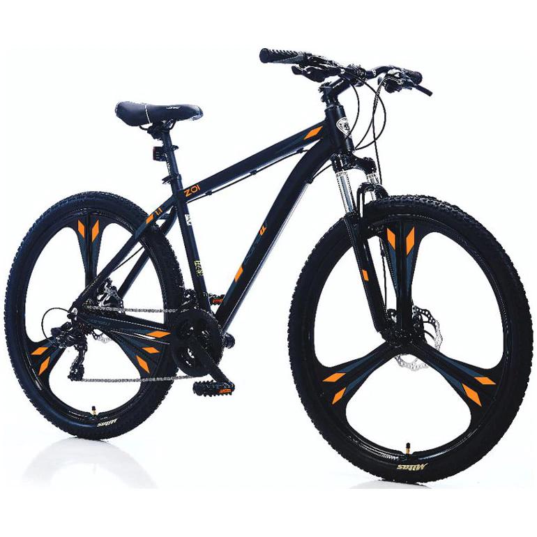 Велосипед MTB ZOI 27.5″, Размер на рамката L, Черен/Оранжев + Разтвор грес Good Bike, Многофункционален, 150 мл