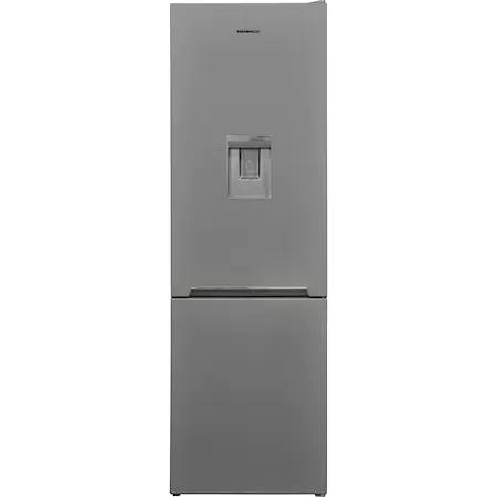 Хладилник с фризер Heinner HC-V270SWDF+, 268 л, Бързо замразяване, Диспенсър за вода, Клас F, H 170 см, Сребрист