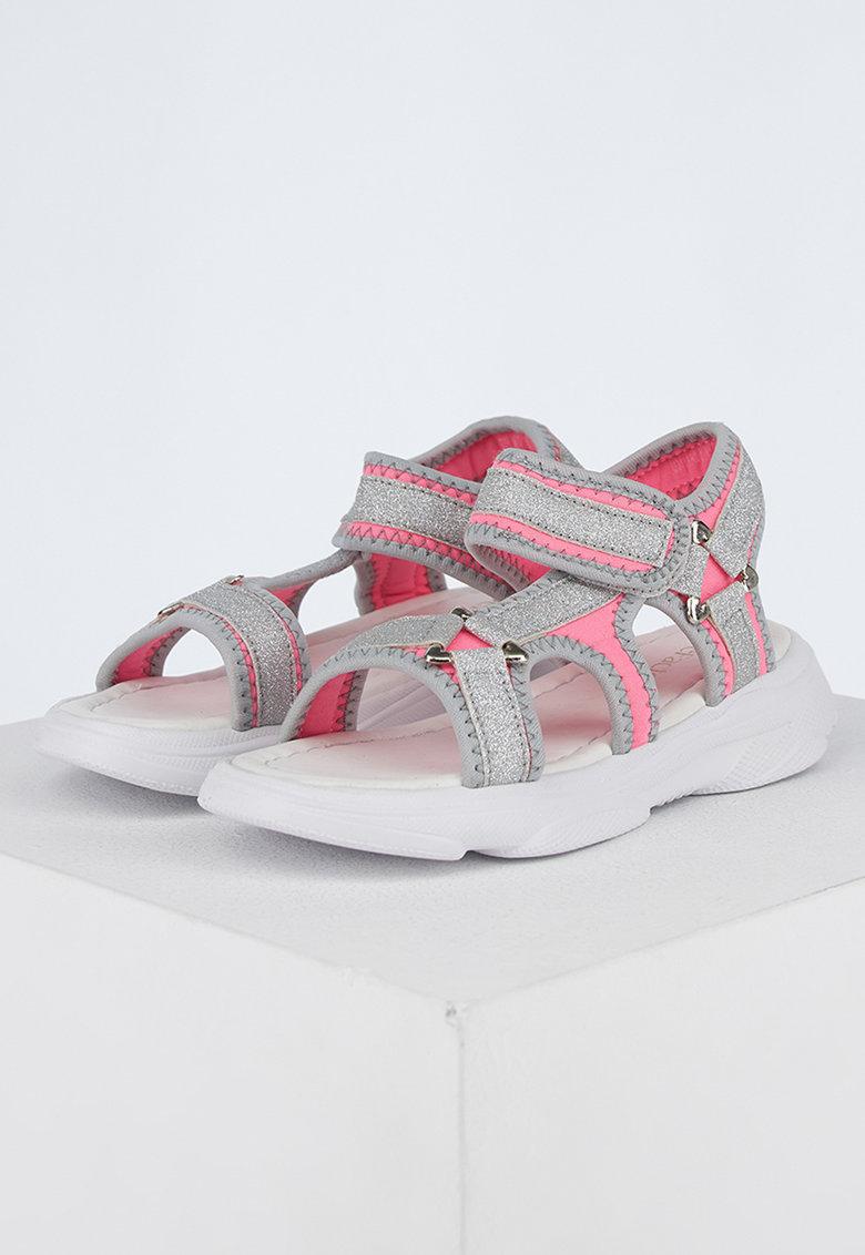 Текстилни сандали DeFacto с велкро и лъскав ефект
