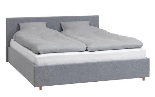 Рамка за легло EGERSUND 180×200 св.сива