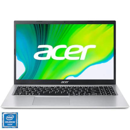 Промо пакет: Лаптоп Acer Aspire 3 A315-35, Intel® Celeron® N4500 up to 2.80 GHz, 15.6″, Full HD, 8GB, 256GB SSD, Intel® UHD Graphics, No OS, Silver + Безжична мишка Trust Yvi FX, Multi Color