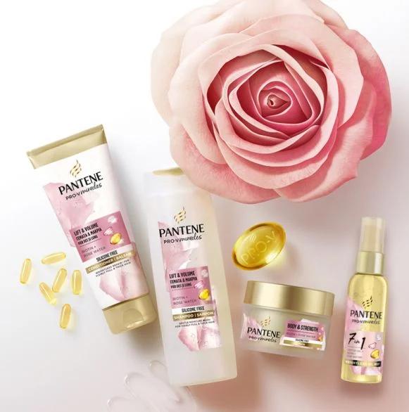 BEAUTY BOX PANTENE ROSE -шампоан за коса Rosе , 300мл+ Балсам за коса Rose, 200 мл+ Oлио за коса Rose, 100 мл+ Маска за коса Rose , 160 мл продукти