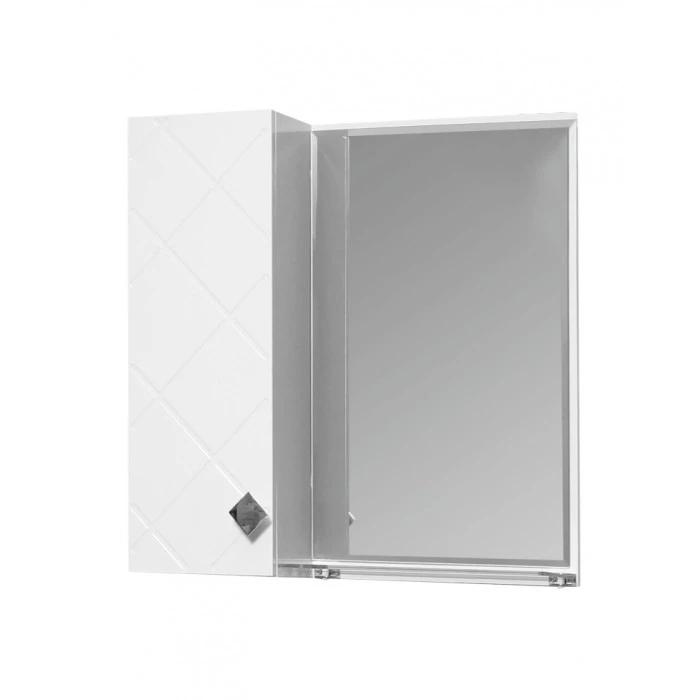 Горен шкаф Макена Орбит за баня с огледало 55x55x15см