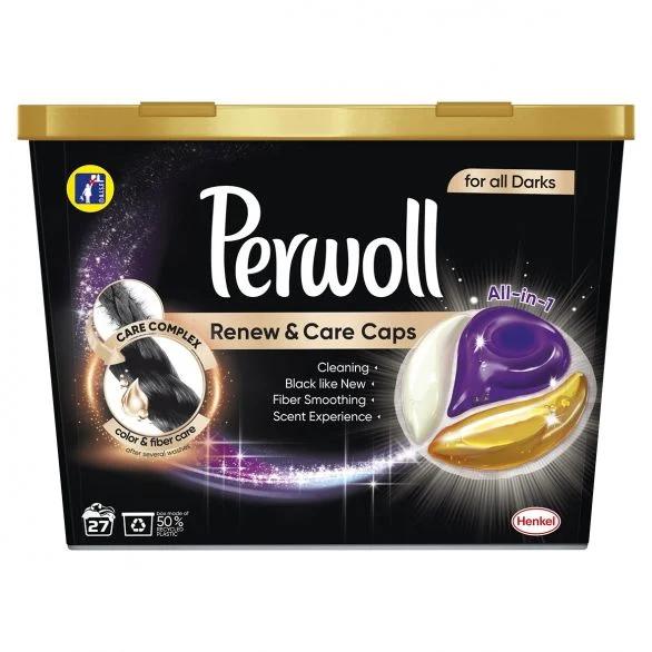 PERWOLL RENEW&CARE Капсули Black 27 пранета