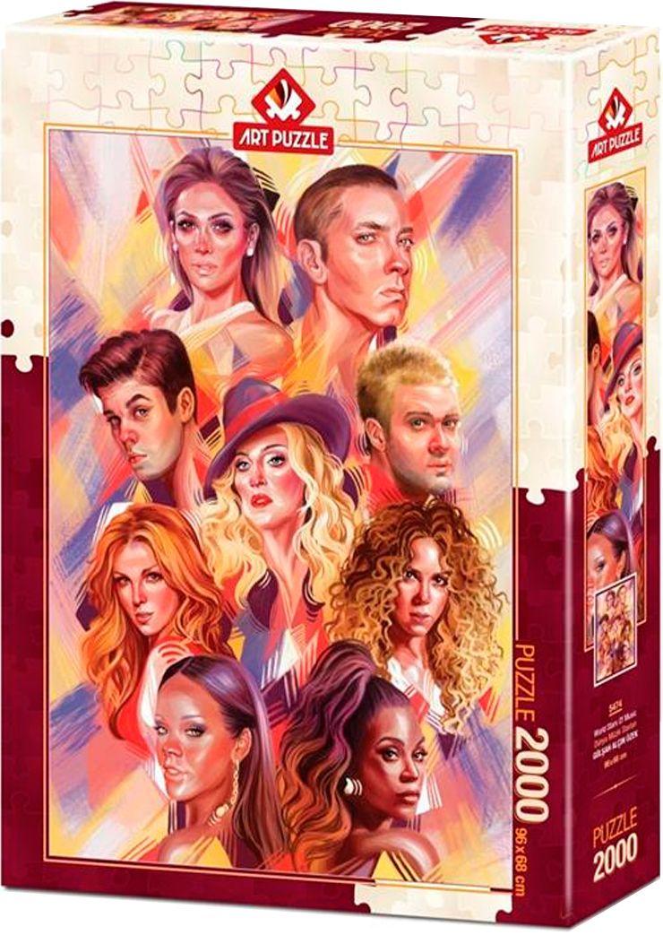Пъзел Art Puzzle от 2000 части – Световни музикални звезди