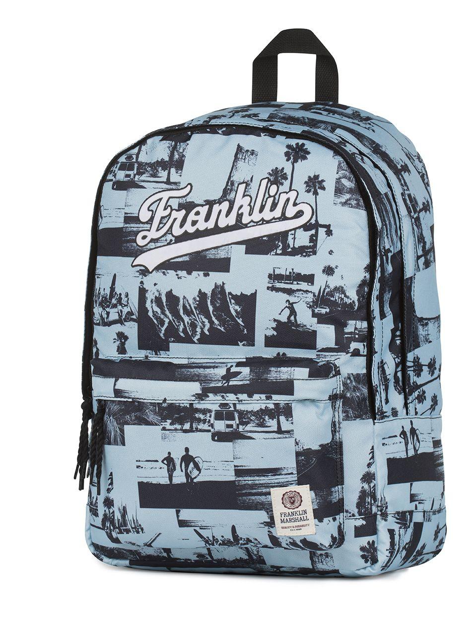 Ученическа раница Franklin and Marshall – Синя, с две отделения