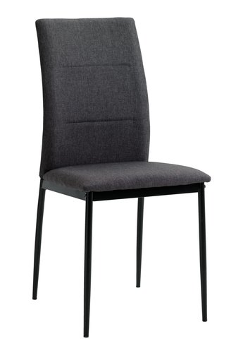 Кухненски стол TRUSTRUP сив/черно