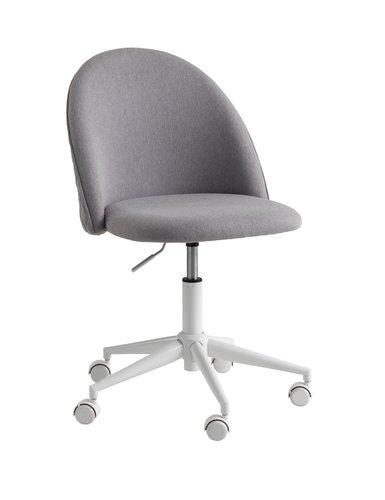 Офис стол KOKKEDAL сив/бял