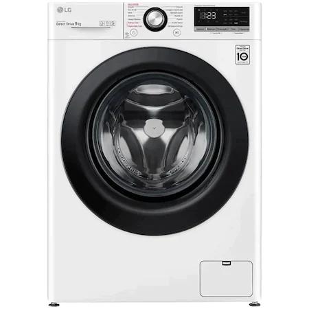Пералня LG F4WV309S6E, 9 кг, 1400 об/мин, Клас B, Steam, AI Direct Drive, Touch control, Бял