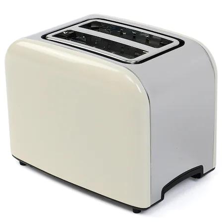 Тостер Star-Light TRD-850C, 850 W, 2 филии, Регулируема степен на препичане, Функция размразяване, Inox/Крем