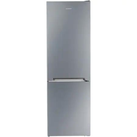 Хладилник с фризер Heinner HC-V336XE++, 336 л, Клас E, Tehnologie less frost, LED осветление, Механичен контрол, Регулируем термостат, H 186 см, Сребрист