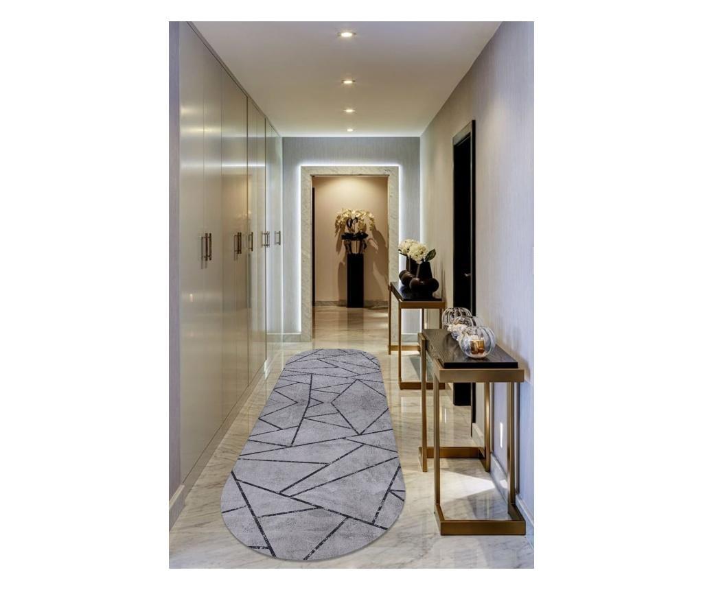 Килим Gray Modern Oval 80×200 cm