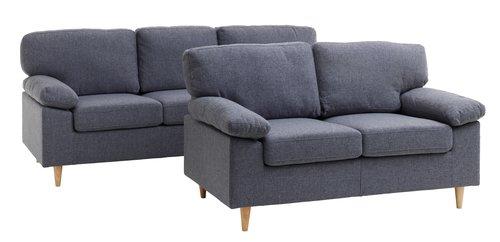Комплект дивани GEDVED 2 броя сиви