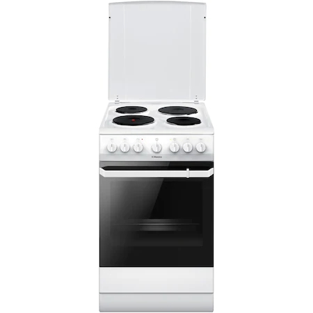Готварска печка Hansa FCEW58169, Електрическа, 4 нагревателни зони, Клас A, 50 см, Бял