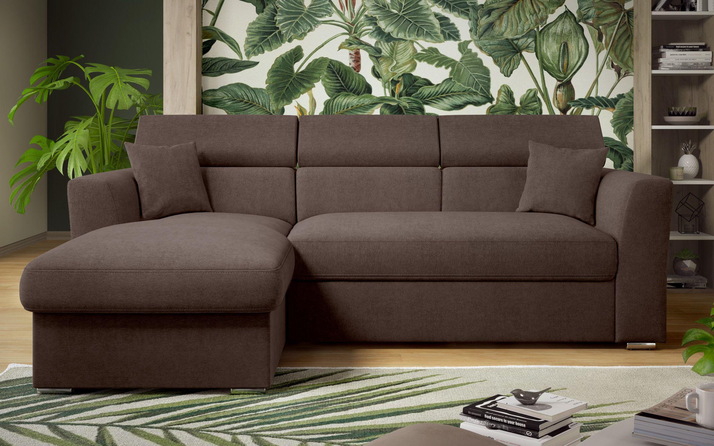 Разтегателен диван Ница , тъмно кафяв