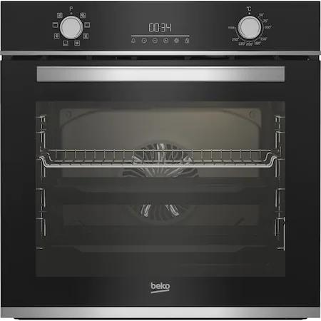 Фурна за вграждане Beko BBIM13300XM, Електрическа, 72 л, Каталитично самопочистване, Сензорен дисплей, SteamShine Cleaning, Grill, 3D Cooking, Клас A, Черно стъкло