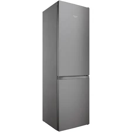 Хладилник с фризер Hotpoint HAFC9 TI32SX, Клас E, Стъклен рафт, Total No Frost, H 202.7 см, Inox