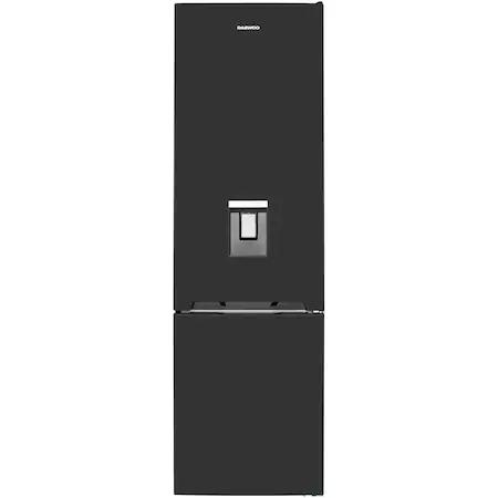 Хладилник с фризер Daewoo RN-307RDQB, 305 л, Клас E, No Frost, Диспенсър за вода, Дисплей Touch-Control, H 187 см, Черен