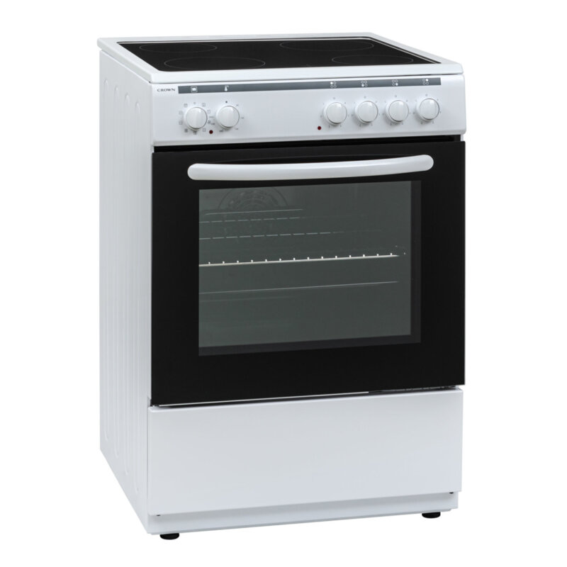 Готварска печка Crown 60C3MA , Бял , Керамични
